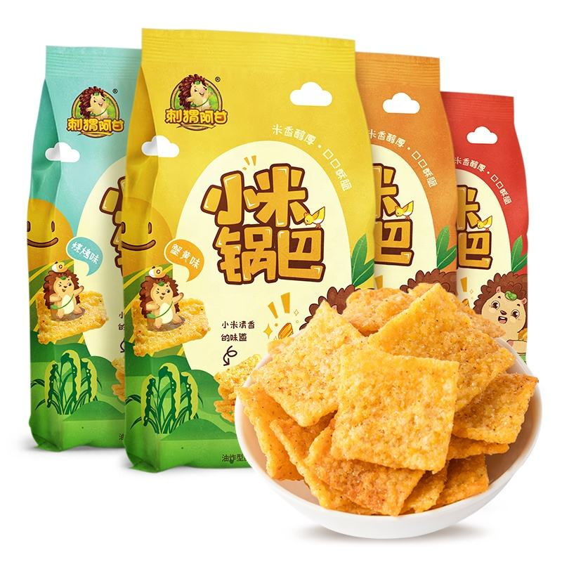 High quality raw material millet barley yam thin sheet high standard food snackers snacks chips halal snacks Healthy snack