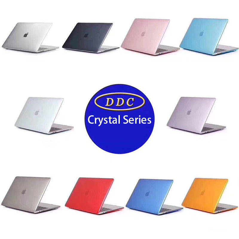 "Factory Direct High Quality Smooth Soft-Touch Crystal Hard Shell Transparent Case for MacBook 11"" 12"" 13"" 15"""