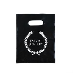 burlap bags with handles customized 20*30 cm shopping plastic die cut bag printed your own logo