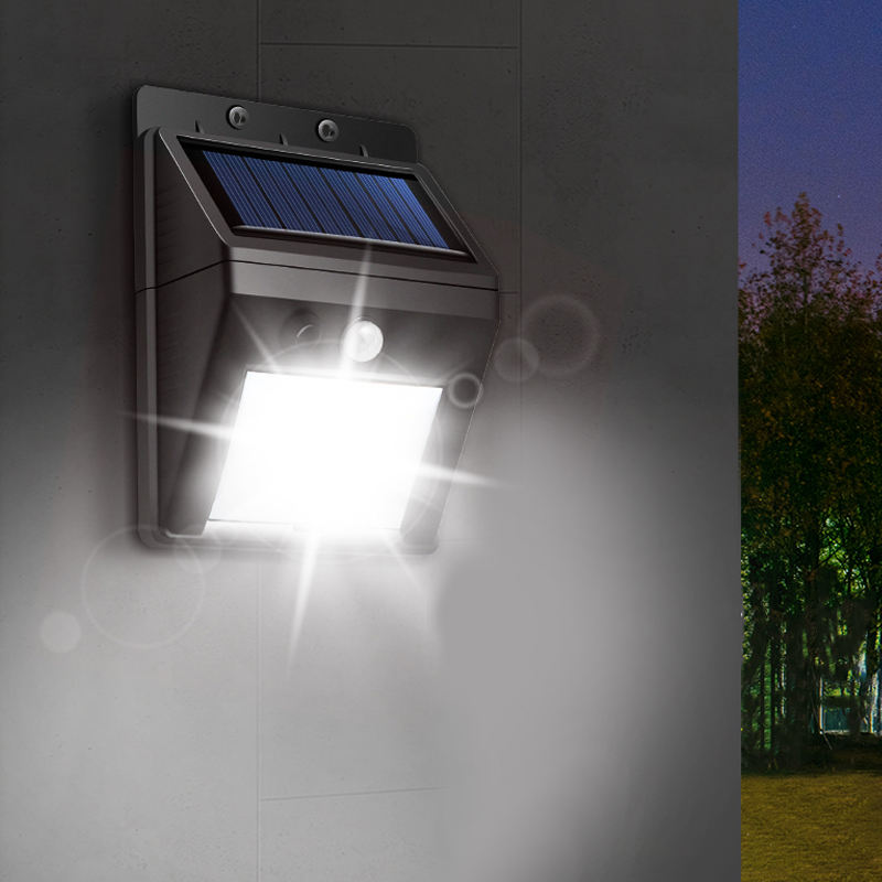 Solar System Portable Wireless Waterproof Optical Inductor Solar Motion Sensor Wall Light for Outdoor Garden