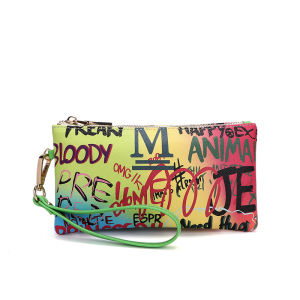 graffiti wallet 2020 Fasion design color famous brands women wrist wallets womens wallet