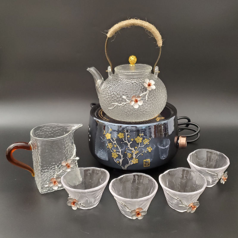 Glass Tea Set Clear Teapot With Heater And Tea Cup Fair Cup Can Purchased Separately