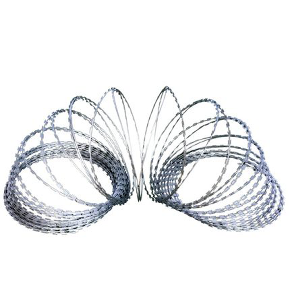 High quality Clips Razor Wire Galvanized Barbed Wire/razor blade barbed wire