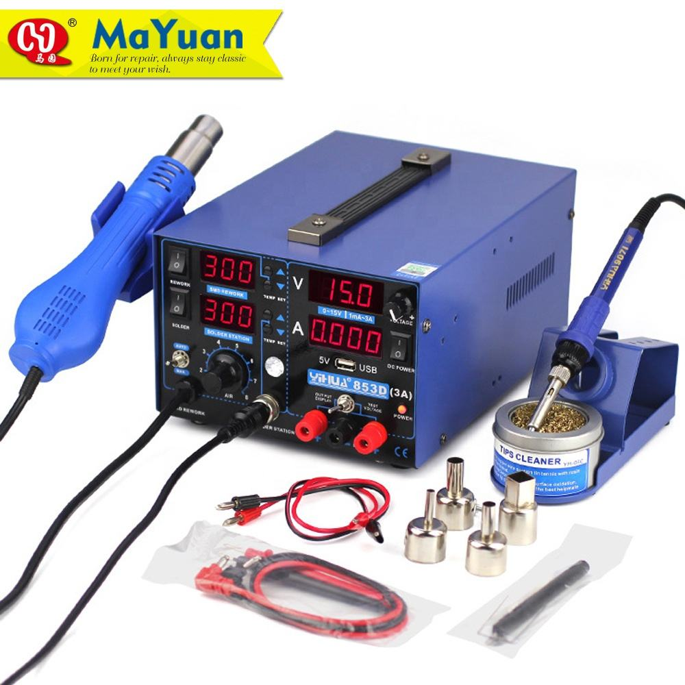 Yihua 853D 3A Soldering and Desoldering Rework Station with 3A Power Supply 3 in 1