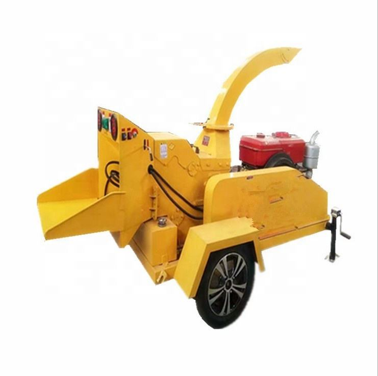 Diesel Mobile Type Dry Fresh Big Branch Crusher Garden Waste Shredder Large Wood Chippers for industry sale