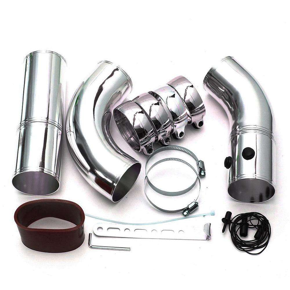 BLACKHORSE-RACING Air Intake Kit for 03-07 Ford 6.0L F-250 F-350 6.0L Powerstroke Diesel Silver