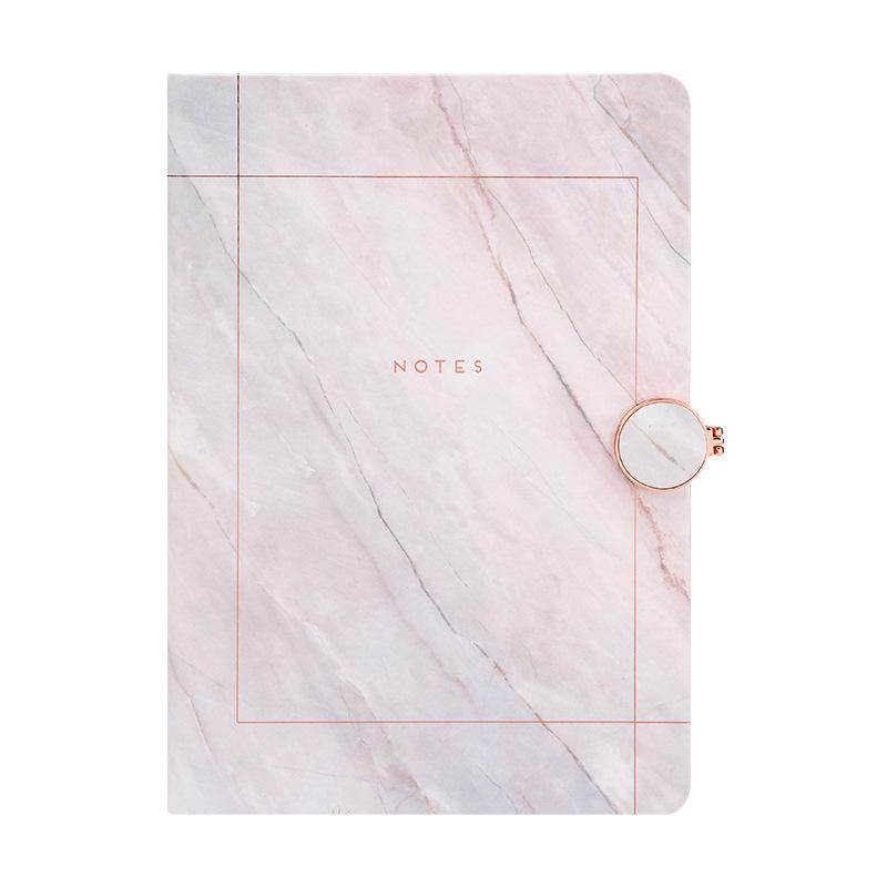 Hot trending products diary 2021 stationary marbling pu cover journal a5 notebook planner with magnet closure