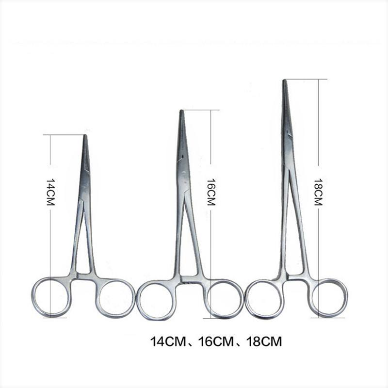 7/6.3/5.5 inch Hemostatic Clamps Straight Curved Head Veterinary Surgical Artery Clamp Hemostatic Forceps