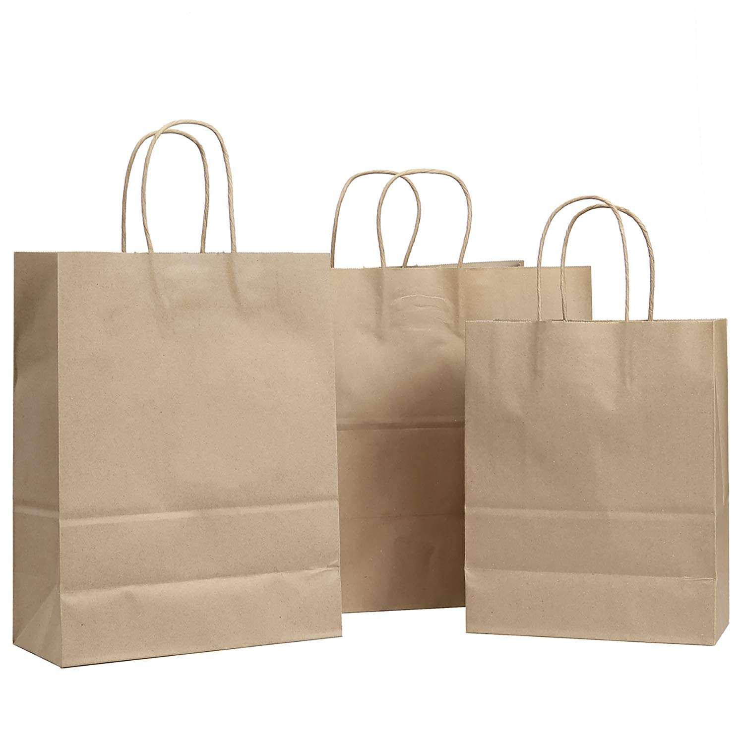 The promotion of Kraft Paper Bags Restaurant Take Out Bags with Handles Gift Grocery Party wholesale