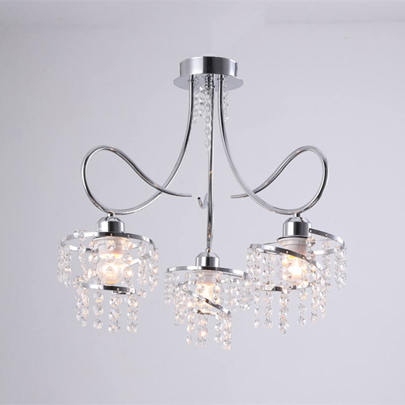 HOOYI Crystal Flush Hanging Ceiling Light for Lobby Hall Room