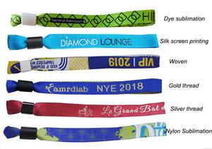 Newest Fashion Wholesale Custom OEM own your design Fabric Full Color Wristband Bracelet