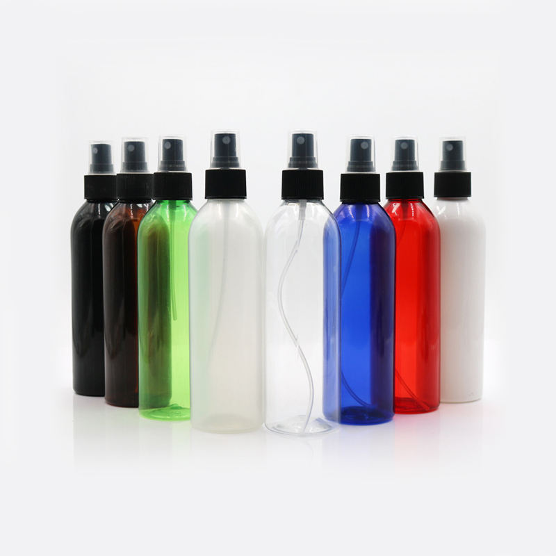 Wadah Kosmetik Plastik Organik 200 Ml 24 Mm Leher Botol Spray Pet dengan Cap