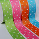 Personalized custom printed 1 1/2 38mm single face grosgrain ribbon with polka dots