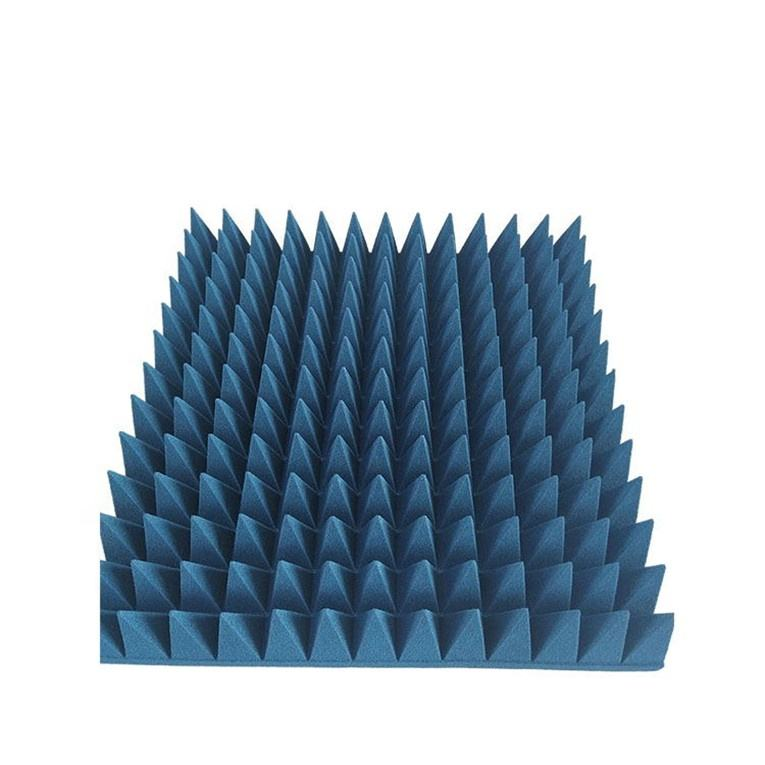 Foam pyramid microwave absorber for rf shielding anechoic chamber