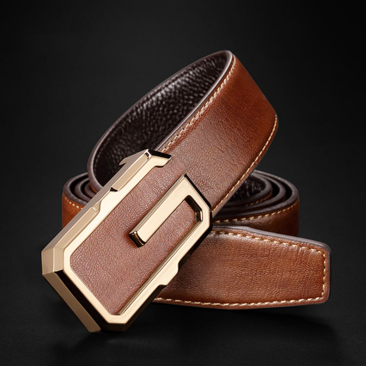 Luxury famous brand design genuine leather men belt