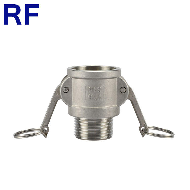 RF Stainless Steel 304 316 Camlock Thread Type B Quick Coupling Male Coupler for Hose Fitting