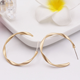 S925 silver needle Korean c shape retro jewelry Geometric distortion matte earrings