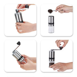 2021 popular stainless steel black simple smoothly small coffee mill single dose small manual uganda coffee bean grinder