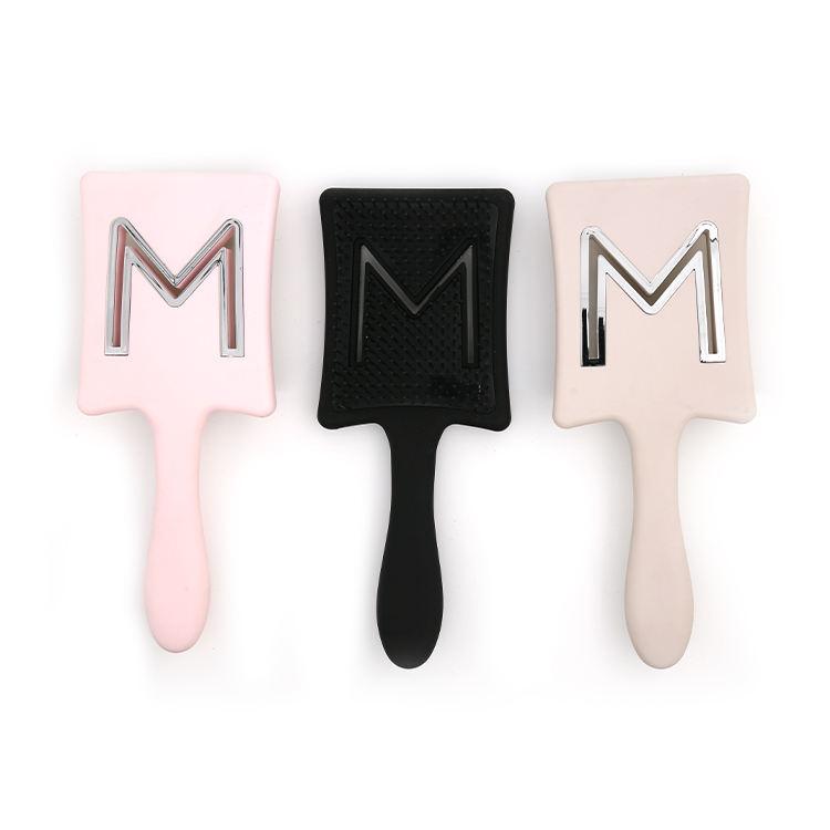 Custom Logo Anti-static Handle Tangle Massage Plastic Detangling Hair Brush