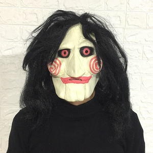 Saw Movie Jigsaw Puppet Mask Halloween Full overhead latex Mask For sale