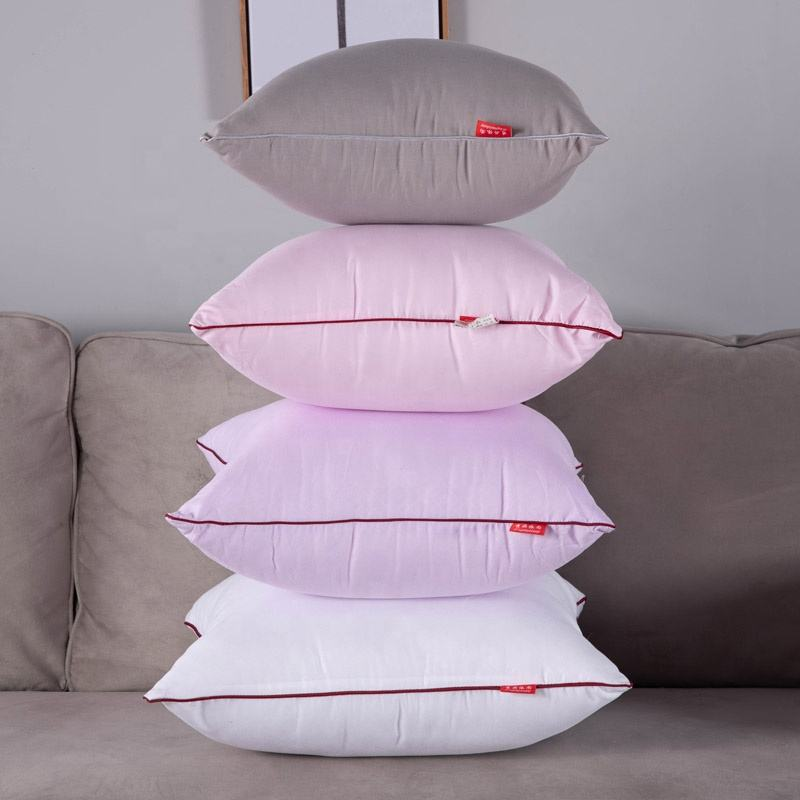Wholesale soft hotel feather silk contton filling square pillow core insert
