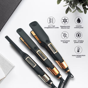 Custom Professional Titanium Wholesale Ceramic Flat Irons Personalized Flat Iron Brand Private Label Flat Iron Hair Straightener
