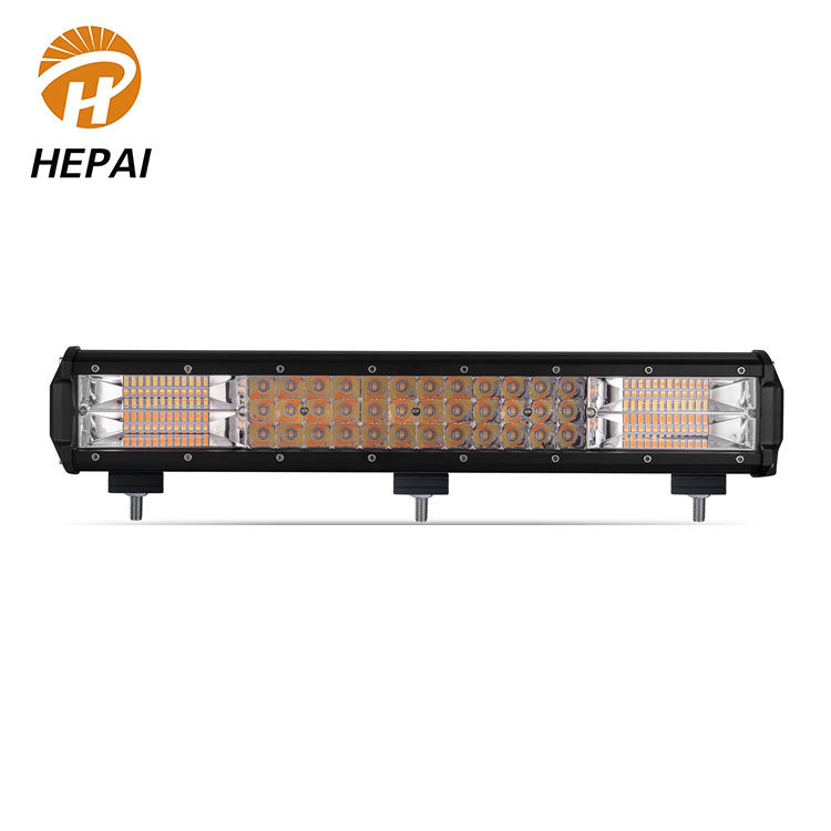 China <span class=keywords><strong>High</strong></span> <span class=keywords><strong>Power</strong></span> dreireihige Doppel farbe 17 Zoll 252w Offroad-Arbeit Fahren Light Truck Atv Offroad Auto Led Light Bar