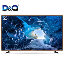 DQ TV-Hot sale real 4K UHD 55 inch led tv smart television with android&wifi tempered glass tv smart