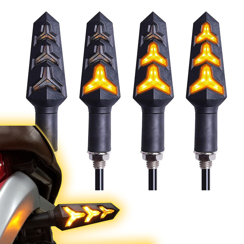 Motorcycle Lighting System Sequential Following Flasher Driving Turn Signal Lights side indicator LED Moto Parts