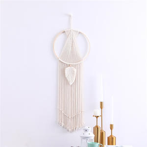 Macrame Wall Hanging Dream Catcher Tapestry Boho Home Decor for Nursery,Door Room,Apartment,Wedding Decoration
