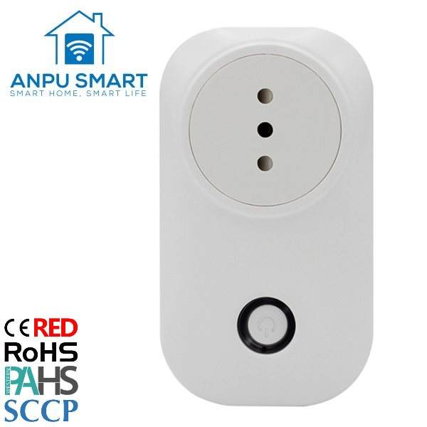 ANPU Chile Standard Smart electrical plugs and sockets Plug Mini Wireless wifi smart home products smart Socket with CE ROHS
