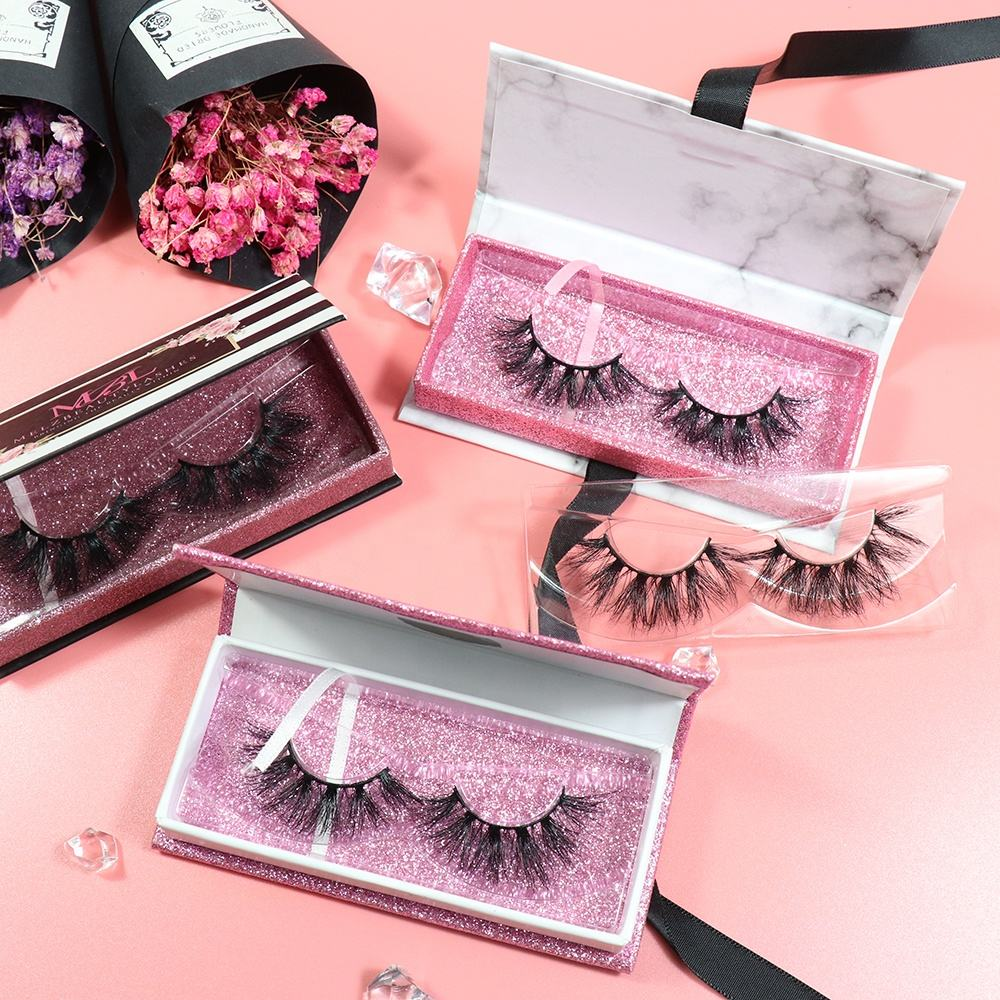 Handmade natural soft cheap synthetic high quality 3d mink lashes 100% false eyelash
