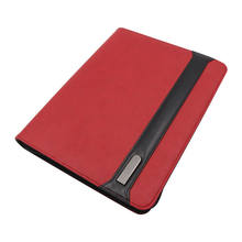 Wholesale Organizer Red  Powerbank Portfolio with Phone Stand and USB Rechargeable in File Folder