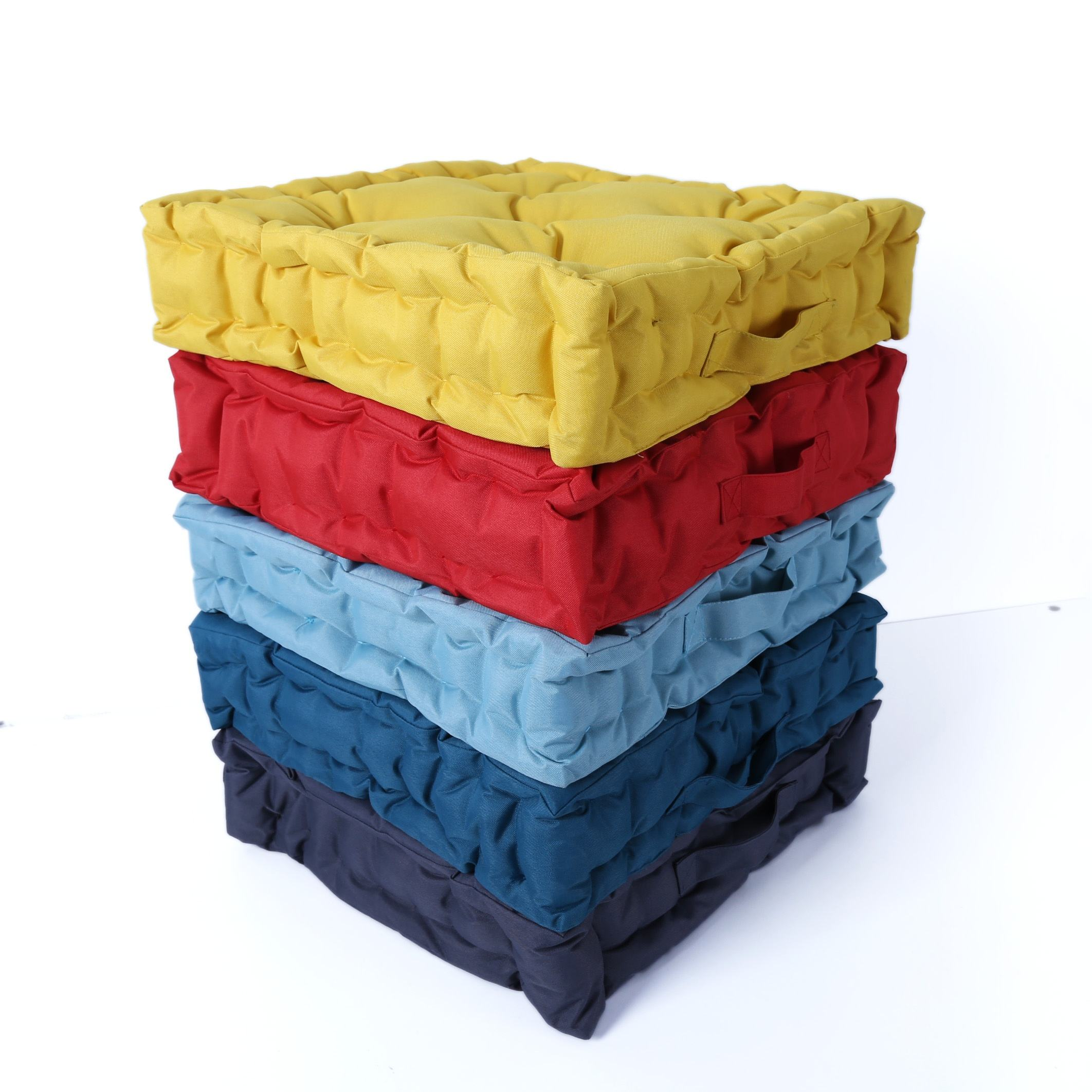 100% Polyester Japanese style soft and comfortable square woven chair pad dining floor cushion