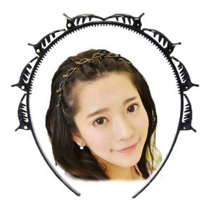 Hair Accessories Unisex U shape Hairband Hairstyle Sports Hair Band Fashion Black Plastic Women Headband