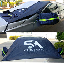 Magnetic car cover protect easy storage, car windshield snow cover