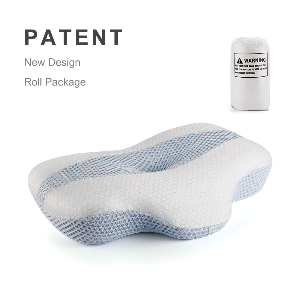 2020 Patented Contour Ergonomic Ventilated Memory Foam Pillow Orthopedic Health Care Bed Sleeping Pillow