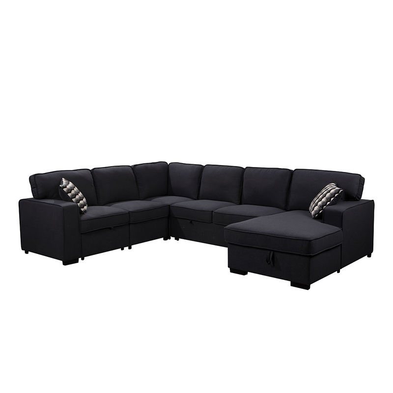 Modern design U shape corner sofa set for living room fabric sofa sectional wholesale