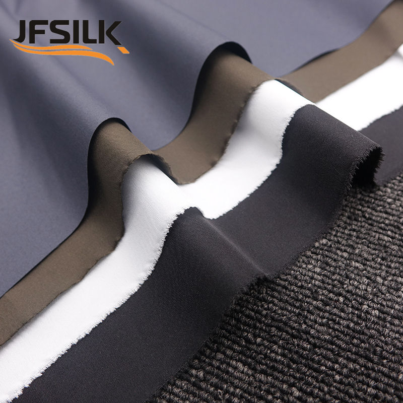 75d polyester pongee fabric waterproof woven plain wholesale for jacket coat dewspo 240T pongee lining material fabric