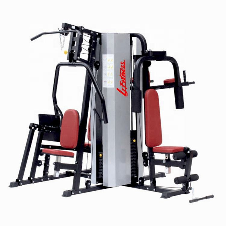 Deluxe 5 multi stations home apparatuur folding permanent roeien machines apparatuur fitness thuis gym apparatuur
