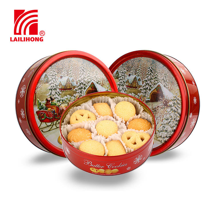 Chinese Chocolate Chip Biscuit Christmas Danish Butter Cookies Tin
