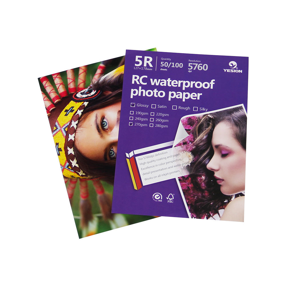 RC Photo Paper Satin/glossy /rough /woven Photographic Paper Waterproof For Inkjet Printing