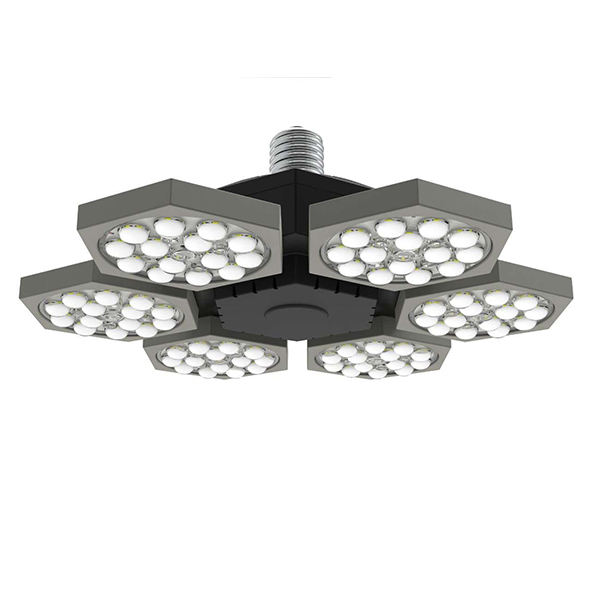 Garage Lighting Foldable leaves Shape adjustable E27 E40 60W 120W LED High Bay Industrial Lighting