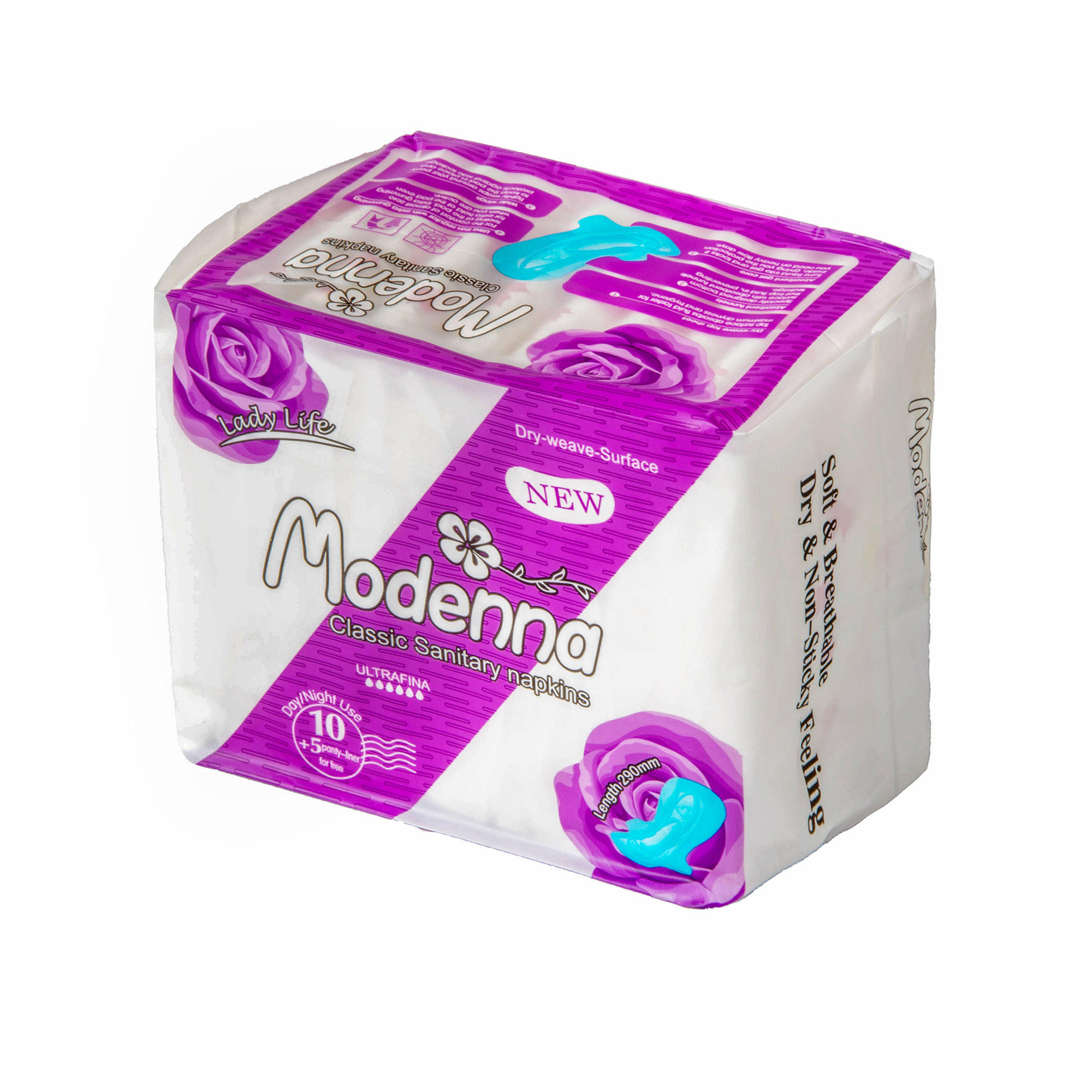 Hot selling factory brand Modenna angels secret womens pads sanitary napkin