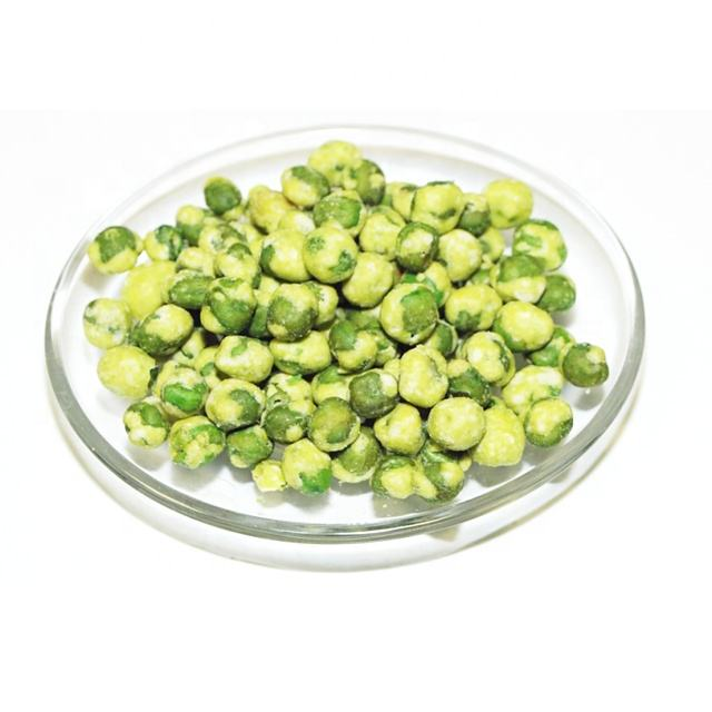 BRC Certificated Dried Coated White Wasabi Green Pea Snack