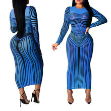 CA0576A hot selling new fashion lady zebra pattern print bodycon tulle dress long maxi sexy nightclub mesh dresses for women