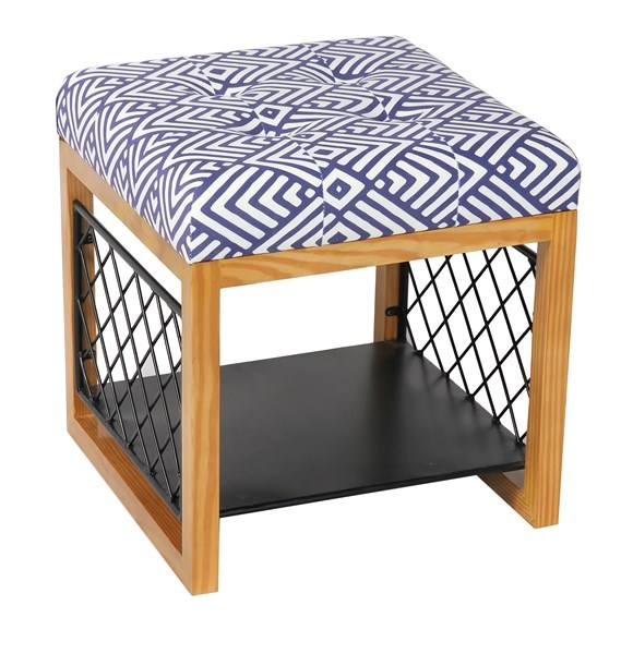 Bailey wooden living room furniture with shoe rack storage stool