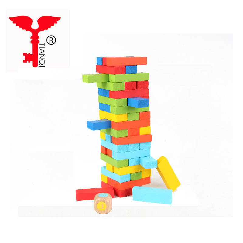 Classic tumbling tower traditional wooden tower game wooden toy game