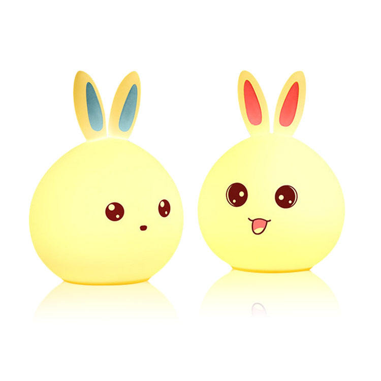 Amazon Top Seller Creative USB Rechargeable Cute Silicone Home Decoration LED Night Light Lamp