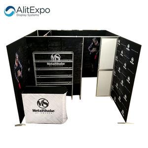 Projete a cabine de alumínio da exposição da bandeira da tela da tensão do quadro